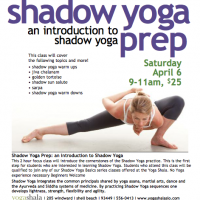 Shadow Yoga Prep APRIL
